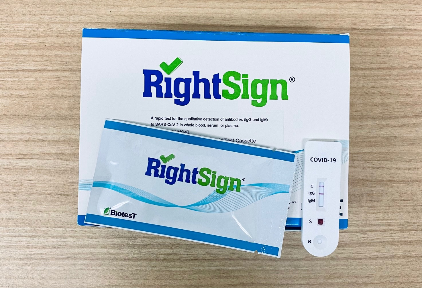 RightSign COVID-19 IgG/IgM Rapid Test Cassette