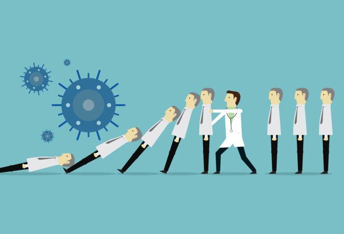 ウイルスが他の人に拡散するのを止める